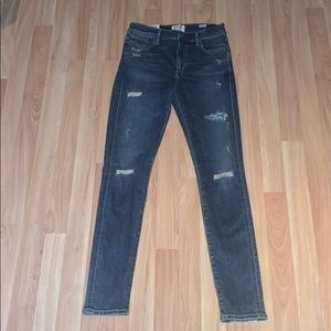 Distressed Sophie High Rise Agolde Jeans